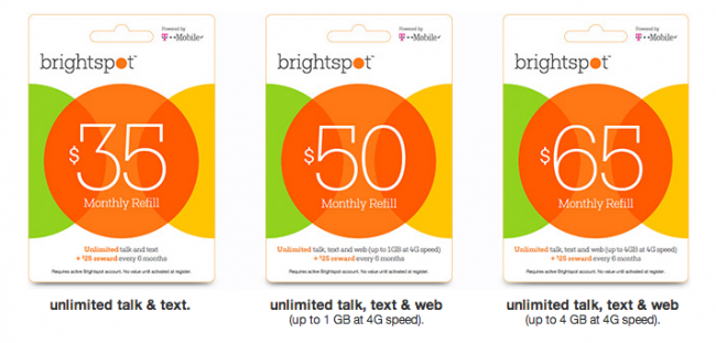 brightspot tmobile prepaid