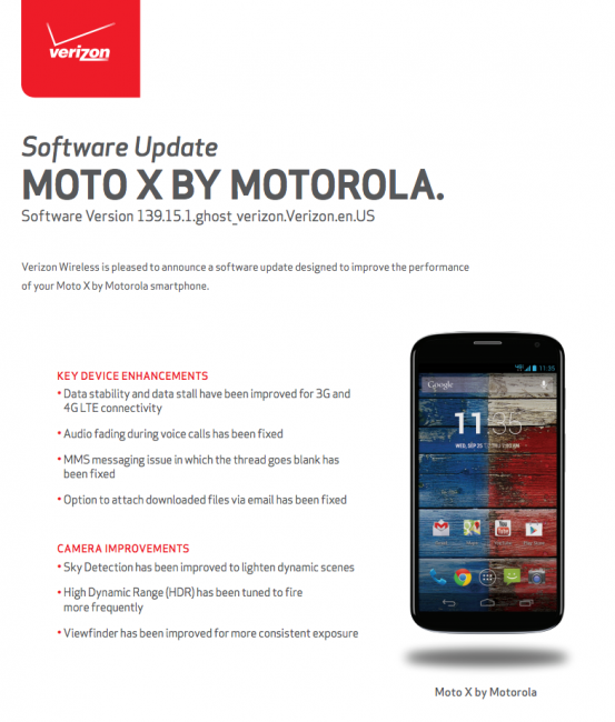 moto x update verizon