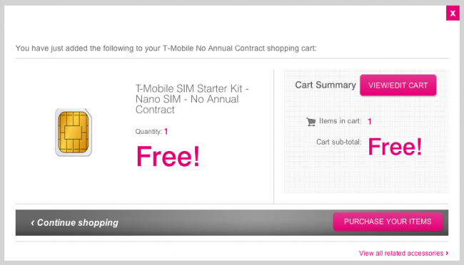 tmobile prepaid sim kit