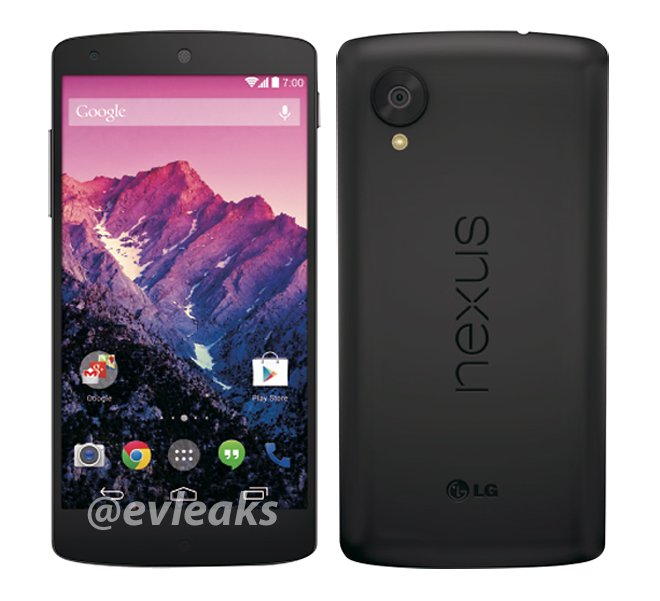 Nexus 5 Press Renders Show Both Black and White Versions ...