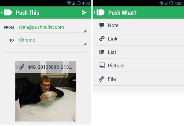 pushbullet update