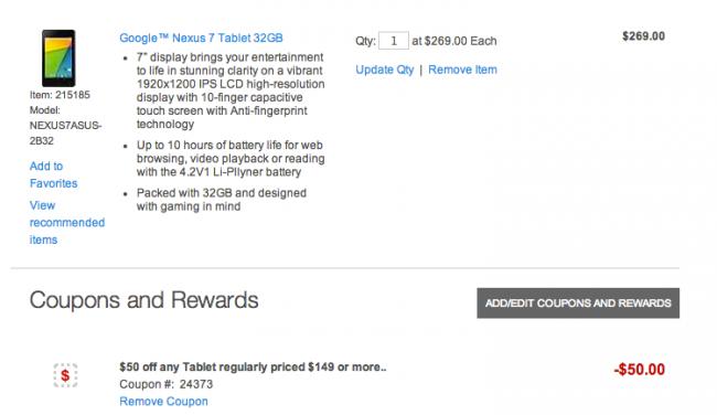 Nexus 7 Deal