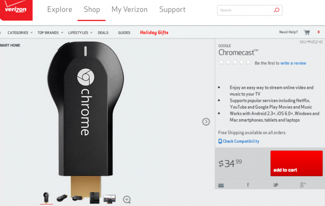 chromecast verizon