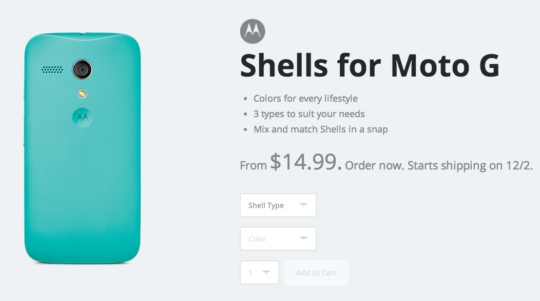 moto g shells