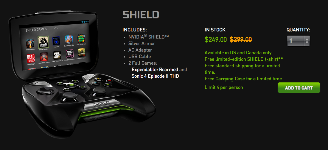 nvidia shield black friday