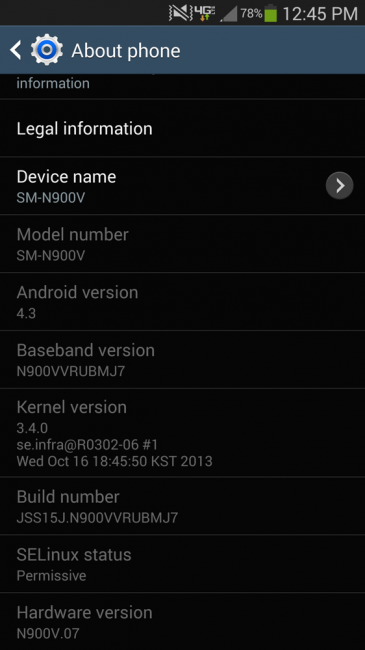 galaxy note 3 update