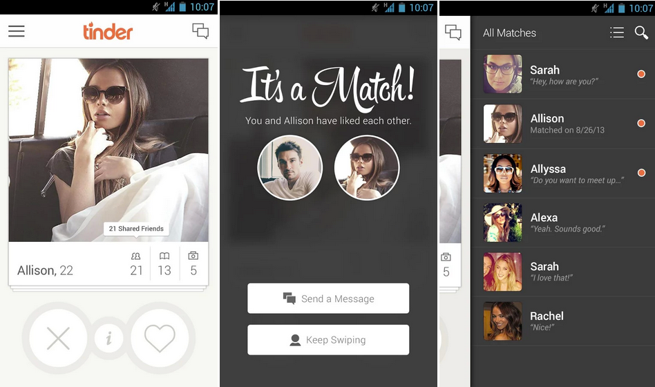 Most popular dating apps like tinder