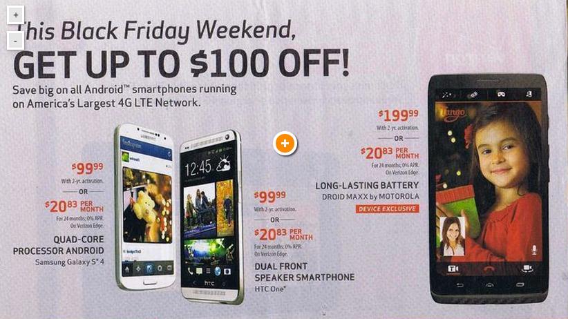 Verizon black friday deals in store