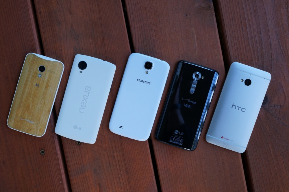 moto x htc one galaxy s4 nexus 5 g2