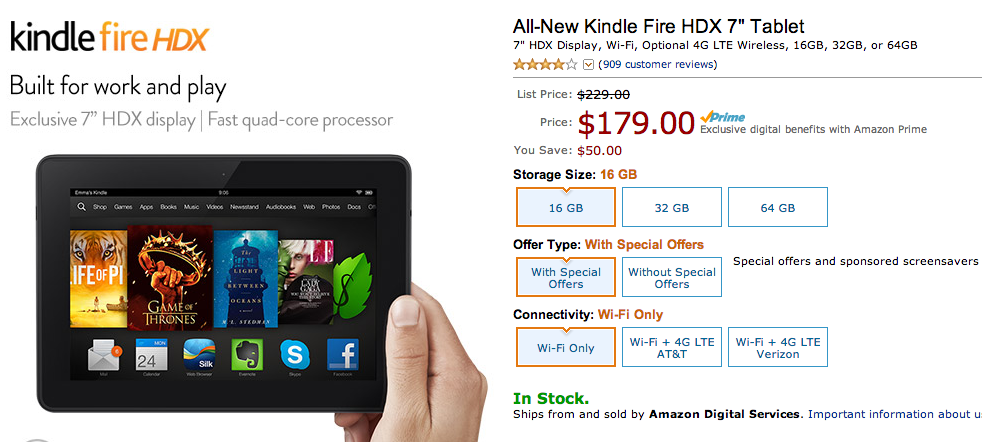 kindle fire hdx cyber monday