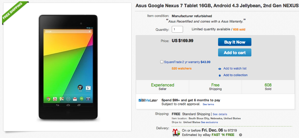 nexus 7 cyber monday