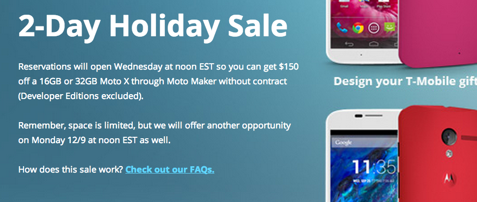 Reminder: Today is Day-1 of Motorola's $150-off Moto X Deal