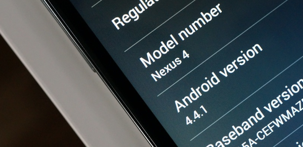 nexus 4 android 4.4.1 update
