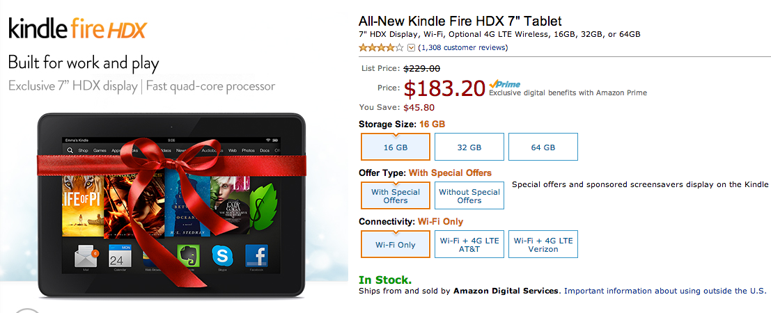 kindle fire hdx deal