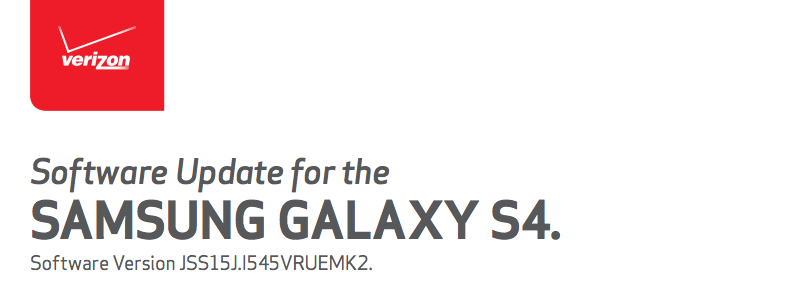 galaxy s4 update verizon