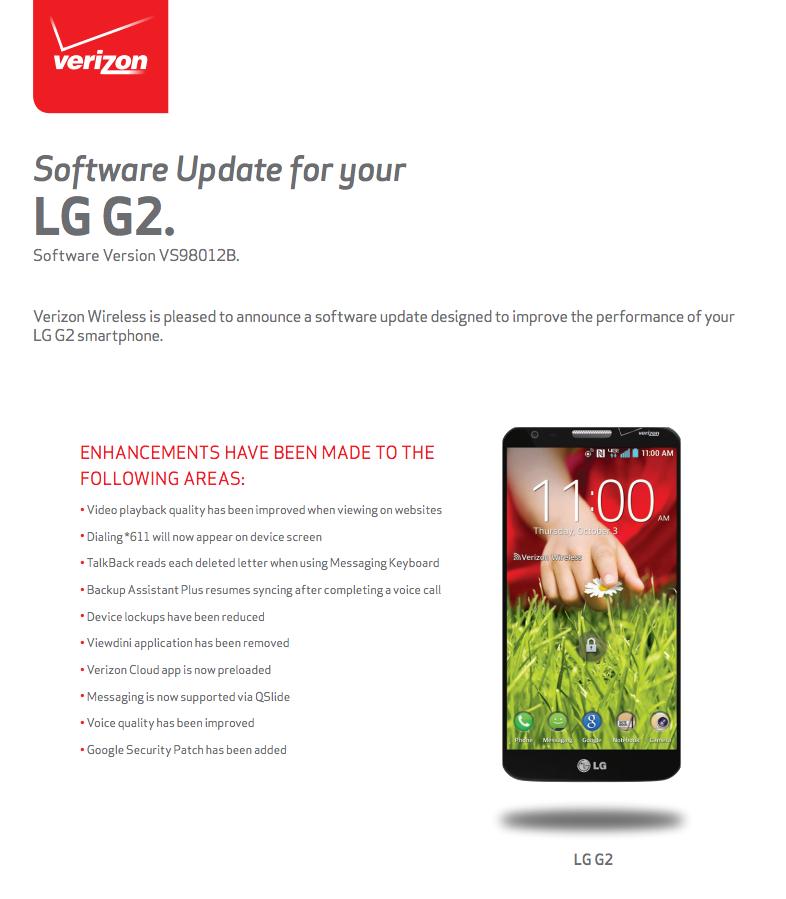 lg g2 verizon update