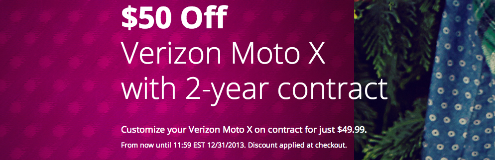 moto x verizon deal