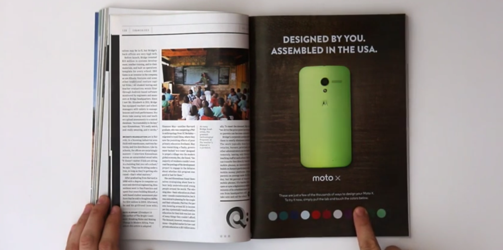 moto x wired ad