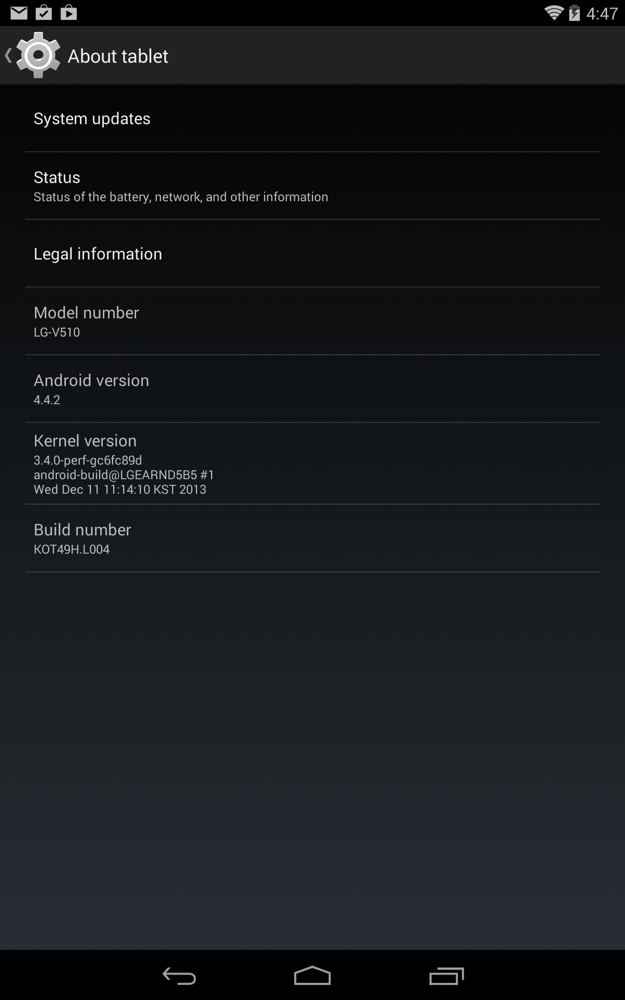 lg g pad 8.3 update