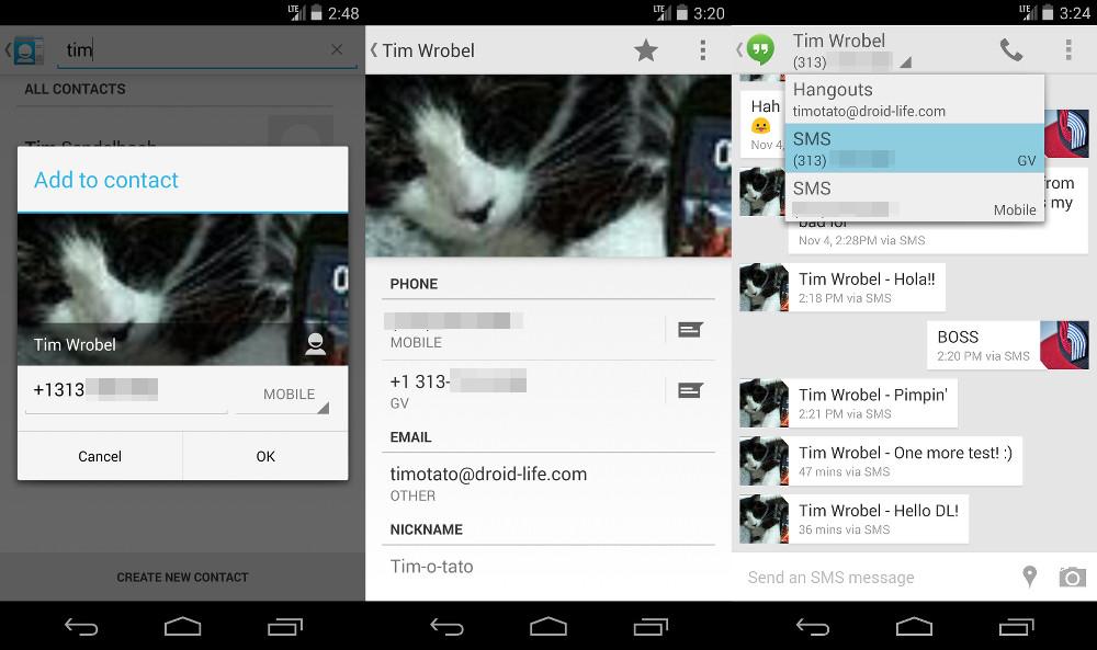 hangouts sms voice4