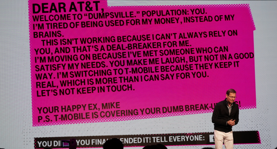 tmobile t-mobile break up letter