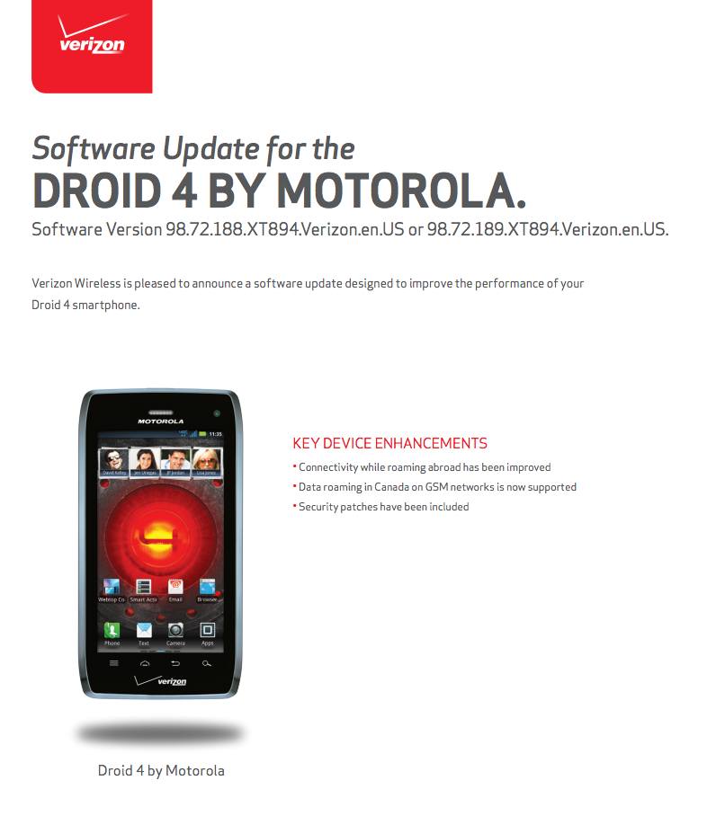 DROID 4 update