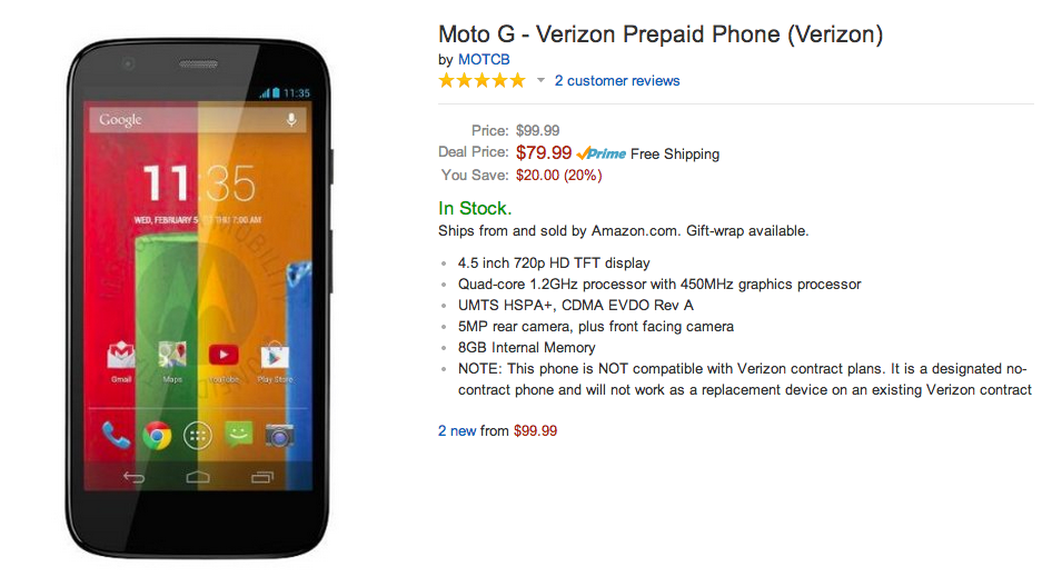 verizon moto g deal