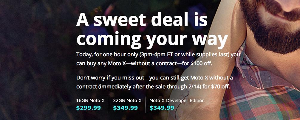 moto x deal