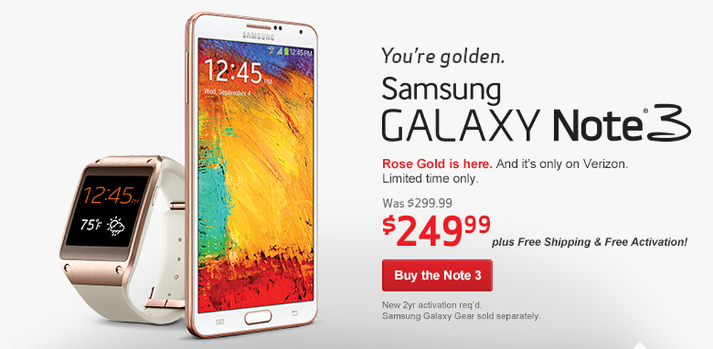 rose gold note3