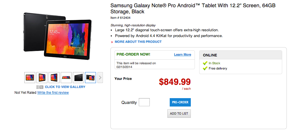 Samsung_Galaxy_Note_Pro_Android_Tablet_With_122_Screen_64GB_Storage_Black_by_Office_Depot