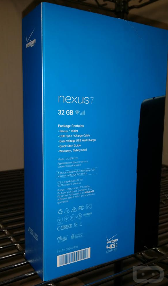 verizon nexus 7 4g lte