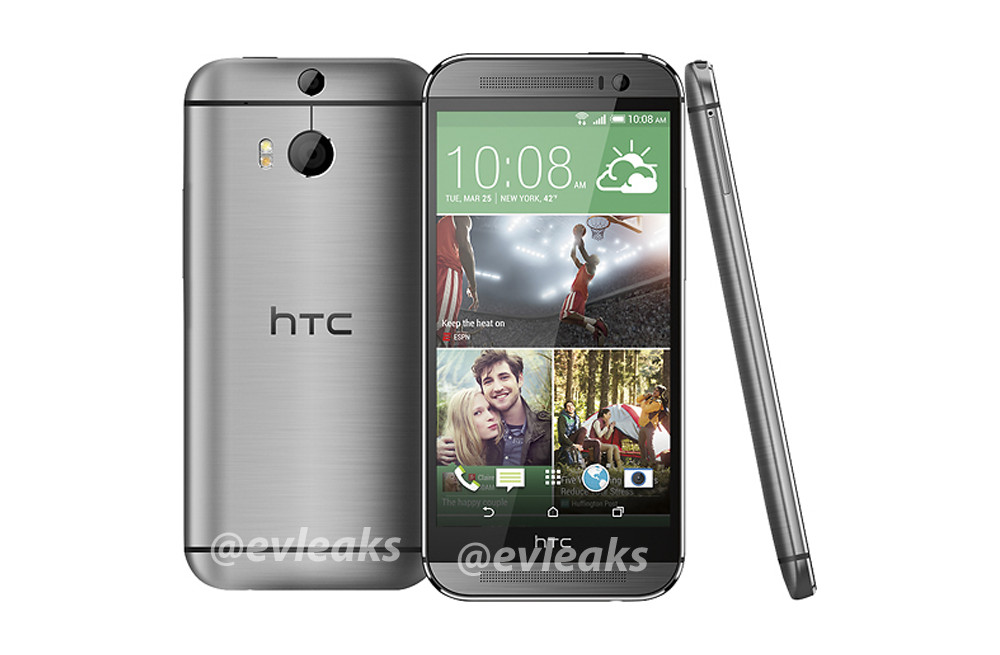 htc one 2014 silver