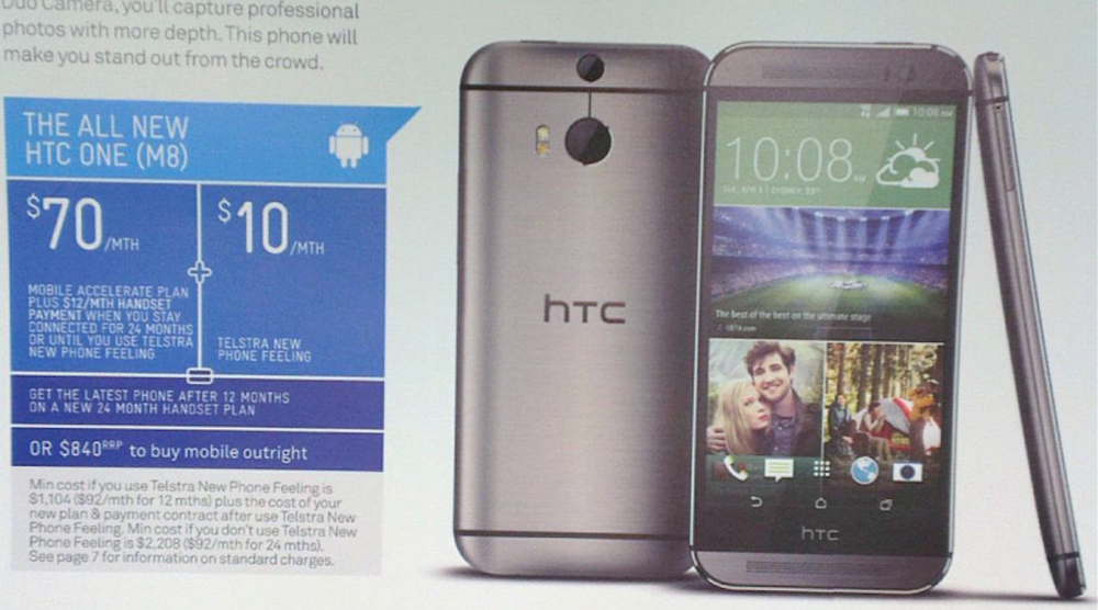 htc one 2014 telstra