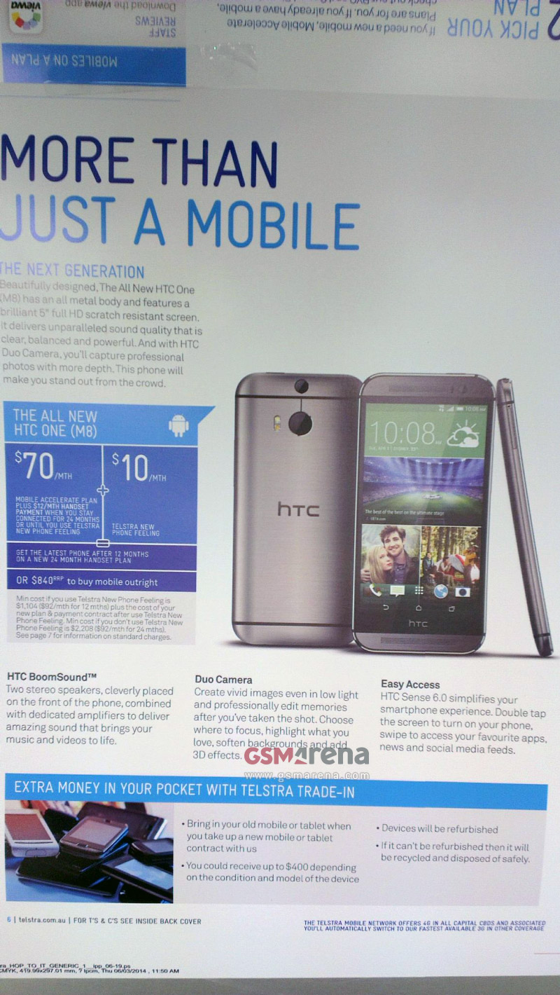 htc one 2014 ad