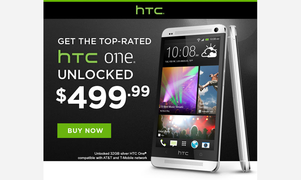 htc one unlocked deal