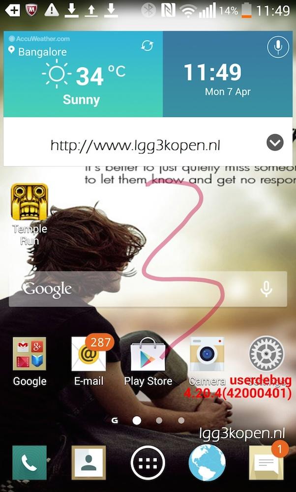 G3 screenshot