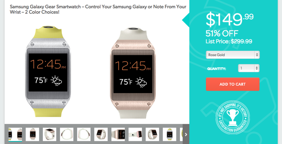 Deal Samsung Galaxy Gear Smartwatch On Sale For 14999 Droid Life