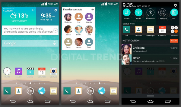 Additional LG G3 Screenshots Leak, Reportedly Confirm Flatter UI