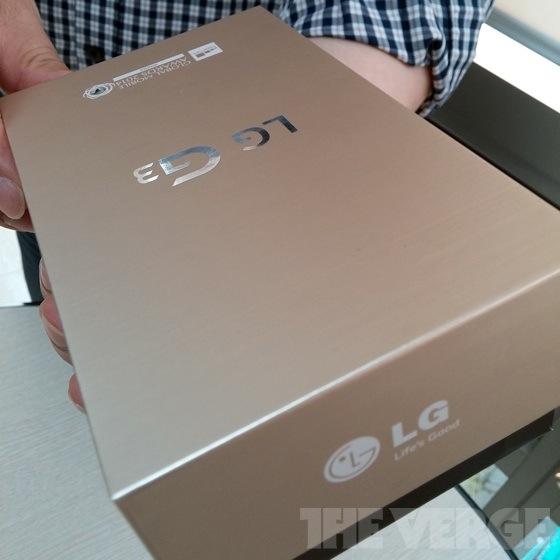LG G3 retail box