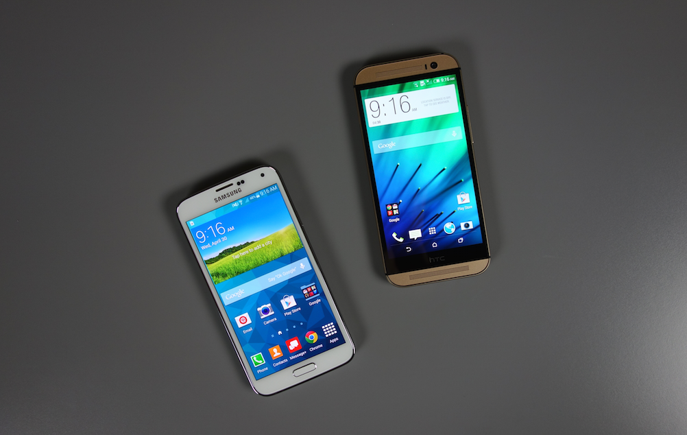 one m8 sense galaxy s5 touchwiz
