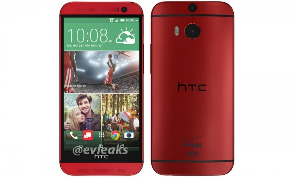 HTC One (M8) for Verizon in Red Breaks Cover in New Leak