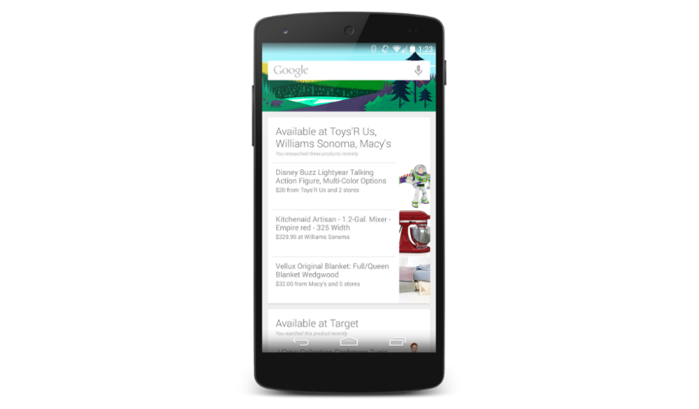 Google Now Will Show Cards for Products You Searched for
