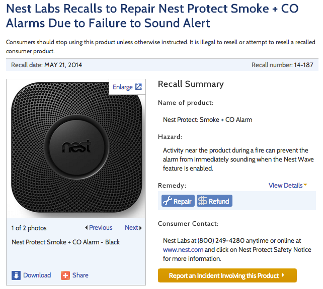 Nest_Labs_Recalls_to_Repair_Nest_Protect_Smoke___CO_Alarms_Due_to_Failure_to_Sound_Alert___CPSC_gov