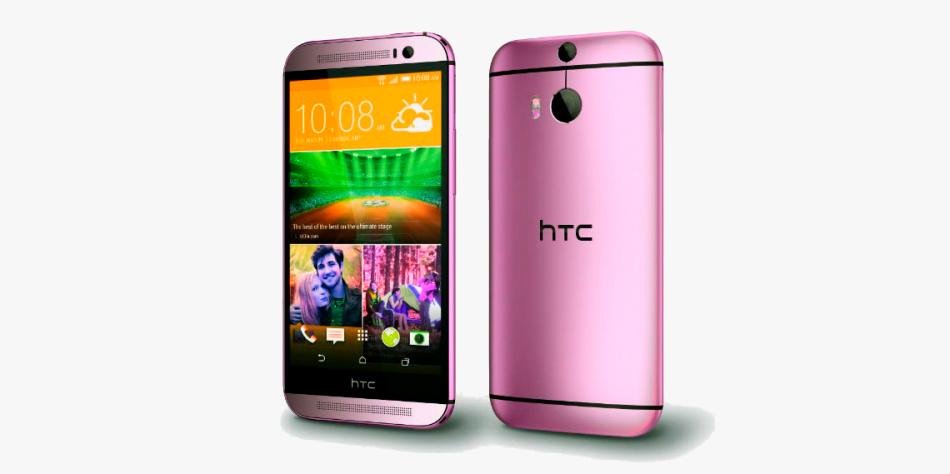 Pink HTC One M8 CONCEPT RENDER