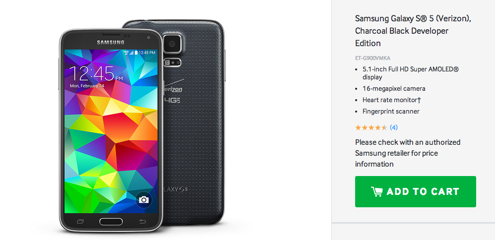 galaxy s5 developer edition
