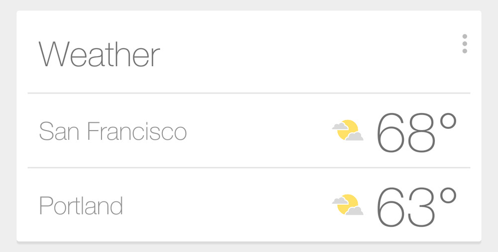 google now weather