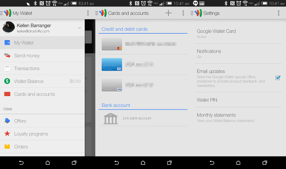 google wallet update