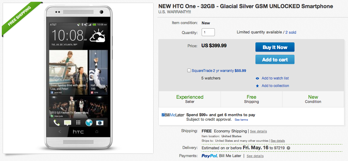 htc one deal