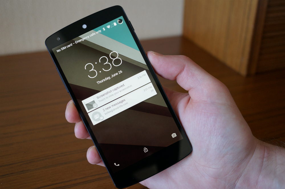 Android L Lockscreen