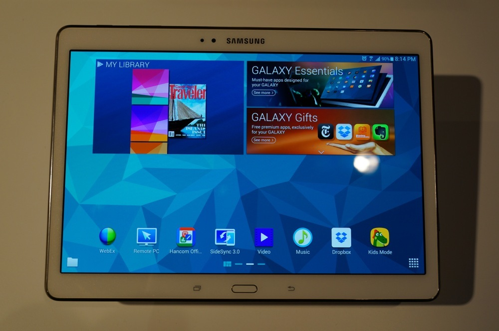 samsung galaxy tab s 10 5 and galaxy tab s 8 4 hands on. Black Bedroom Furniture Sets. Home Design Ideas